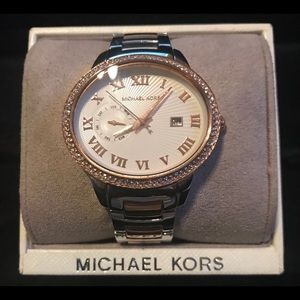 Michael Kors -Silver and gold watch